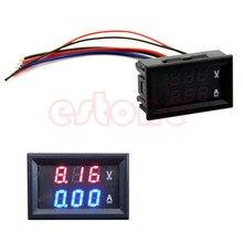 Nouveau voltmètre ampèremètre cc 100V 10A + ampèremètre LED rouge double jauge de voltmètre numérique bleu H15
