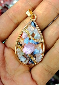 New Designed Natural Geode Agat e Drusy Cluster Pendant,Gold Drusy Pendant Jewelry Mixed Oval Pear Shape10pcs/lot