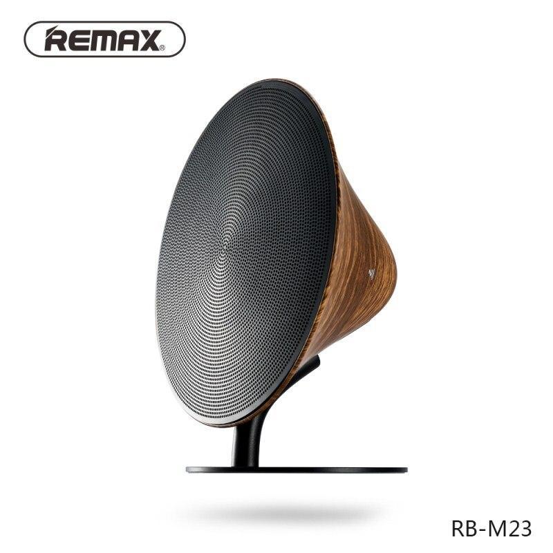 REMAX Bluetooth 4,2 altavoz efecto de sonido envolvente puerto de Audio NFC aleación de aluminio Altavoz de escritorio llamadas manos libres altavoz