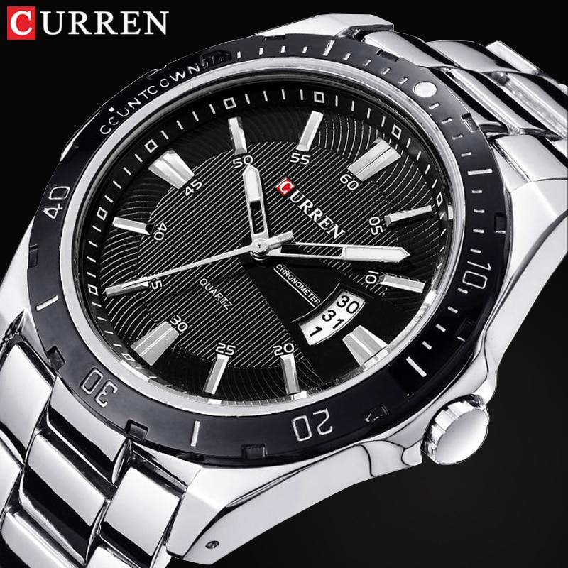 Top Luxury Brand CURREN Men Fashion Casual Business Watches Men's Quartz Clock Male stainless steel Strap Wrist Watch Relogio