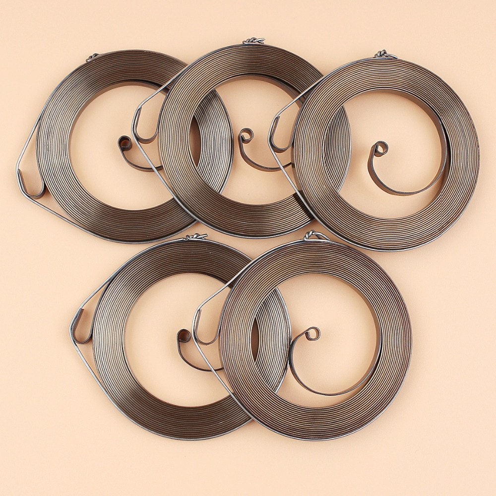 chainsaw spare parts recoil pull starter assembly for h136 137 142 5Pcs/lot Pull Starter Recoil Spring For HUSQVARNA 137 142 235 240 137E 142E 235E 240E Gasoline Chainsaw Parts #530 04 20-95