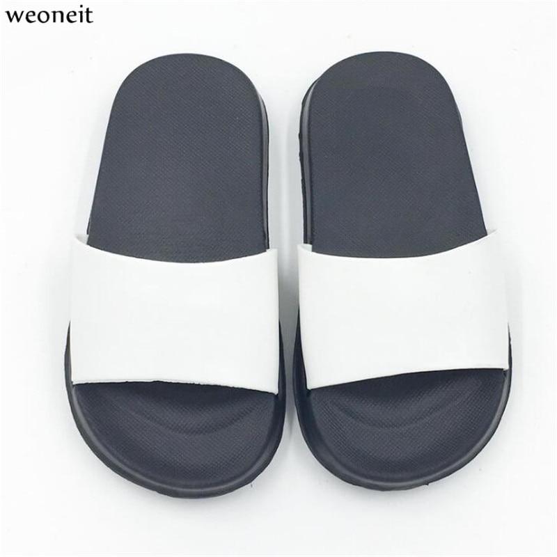 Weoneit niños de Color sólido interior zapatillas Niño niños niñas verano casa Flip Flop dormitorio de Bebé Zapatos niños zapatos playa sandalias