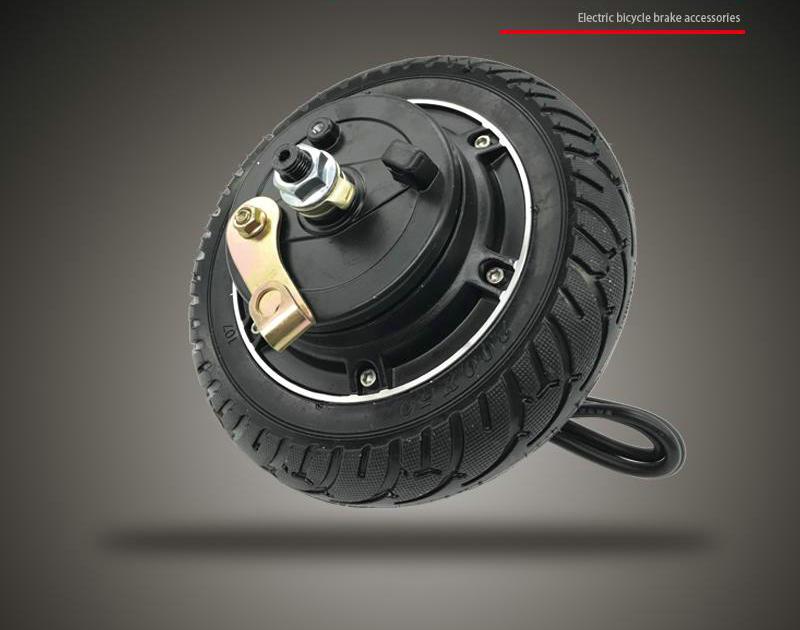 250 w 350 w 8 dc24v36v48v polegada eletrico brushless motor roda de tambor de freio