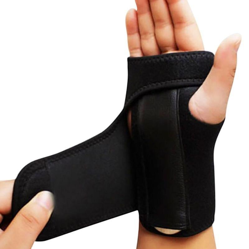 Ajustable extraíble pulsera Muñequera de acero apoyo artritis esguince del túnel carpiano de la férula de Protector