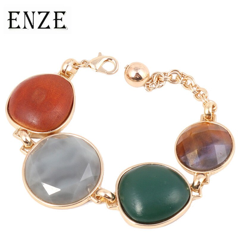 ENZE dames couleur nouveau exquis géométrique mode tendance alliage bracelet mode personnalité simple bracelet bijoux accessoires