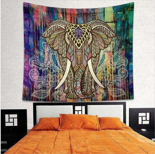 Tapisserie murale de Mandala bohème   Ameublement de maison, tapisserie murale de Mandala de sable de plage, tapis jeté de pique-nique couverture de Camping, tente de voyage, tapis de couchage