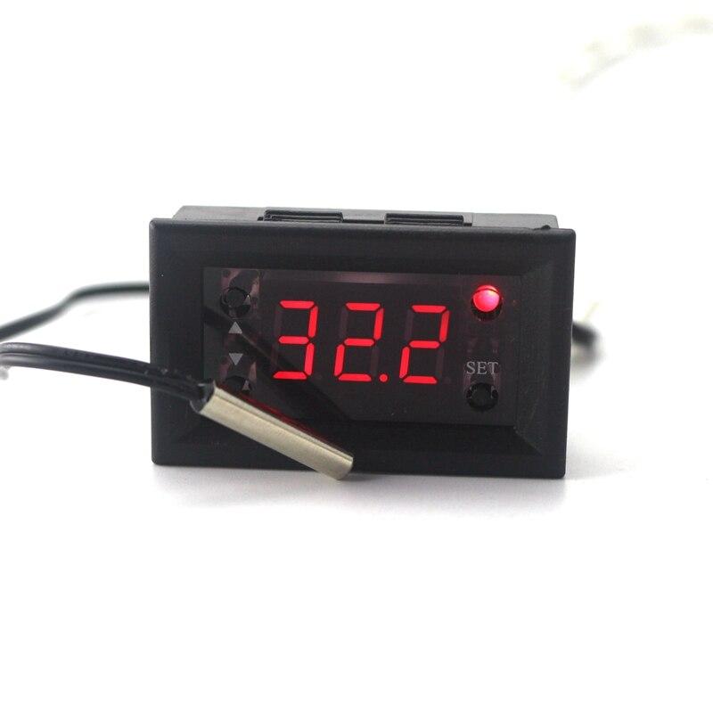 W1218 dc12v controlador de temperatura digital termostato regulador interruptor temp medidor controle ntc à prova dntc água semsor sonda led