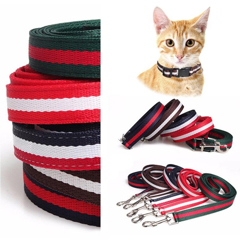 Conjunto de Collar de correa de gato de 50 pulgadas de longitud, correa de 10 pulgadas ~ 20 pulgadas ajustable para mascotas, conjunto de correa para caminar al aire libre, decoración de moda para cachorros o gatos