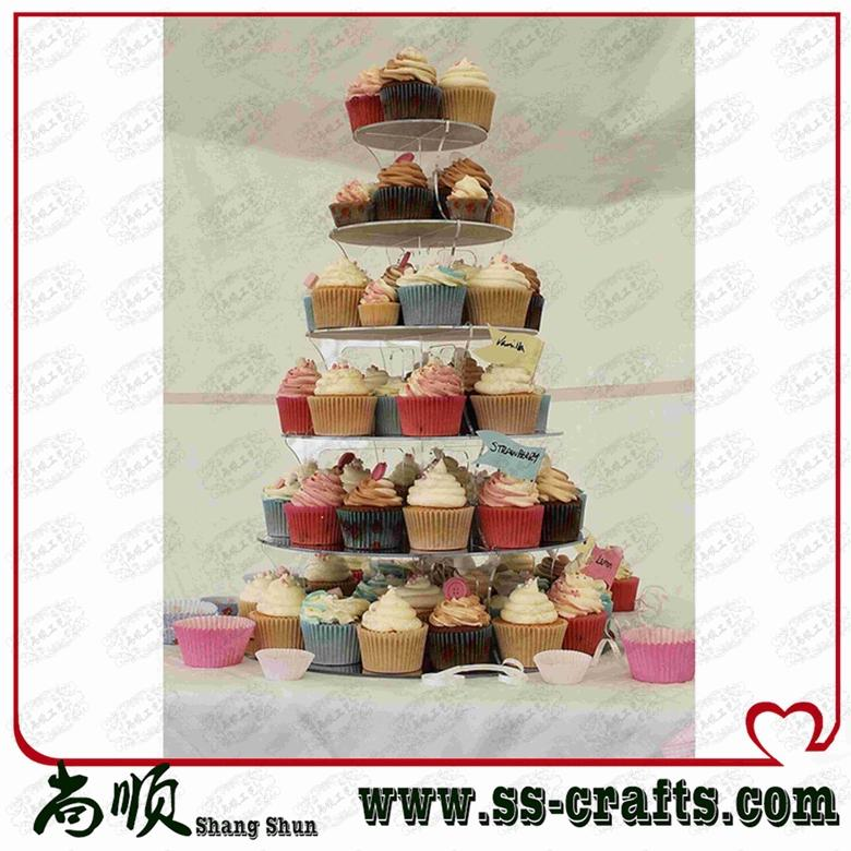 event party supplies 6 Tier Layout Beautiful Acrylic Cupcake Stand Party Wedding Festival Supplies wedding decoration