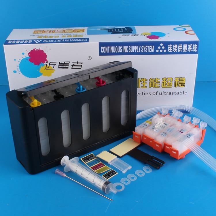 Универсальная 5 видов цветов Система непрерывной подачи чернил снпч комплект с полным аксессуаром большой емкости чернил для принтера CANON IX6560 IX6570 СНПЧ