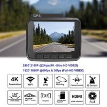 Dash Cam Car Camera Recorder Dashcam 4k Car DVR Built In GPS WiFi Video Recorder                    Vehicle Rear View Camera DVR