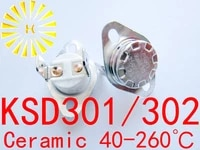 10pcs x ksd302 16a 40 260 degree ceramic 250v ksd301 normally openclosed temperature switch thermostat fuse free shipping