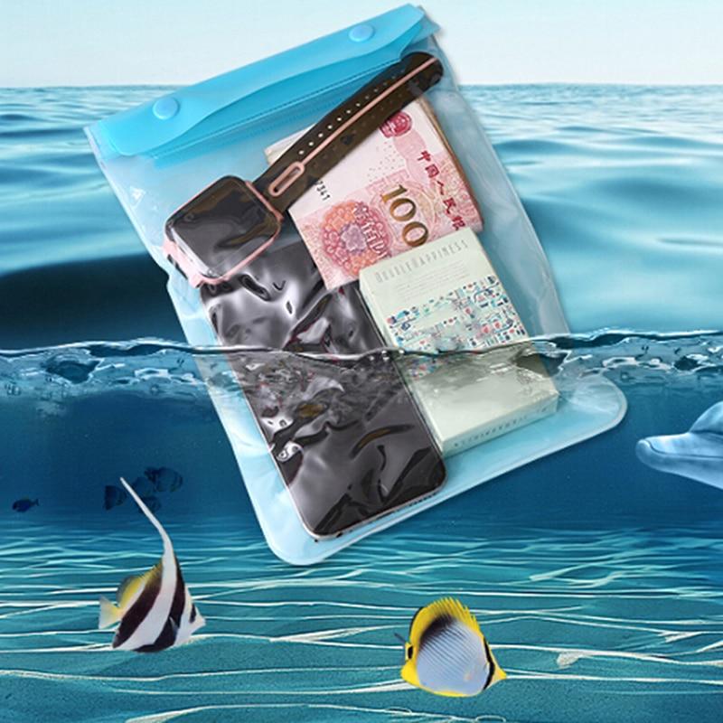 1pc impermeable bolsa de sellado de la bolsa del teléfono móvil bolsa de la cubierta de los casos claro bolsa de bolsa impermeable seco funda para todos los de la cámara del teléfono celular