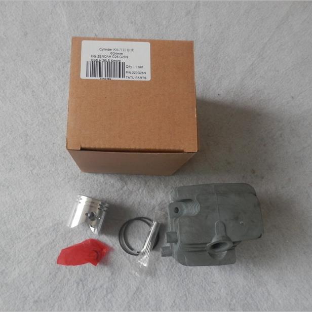 KIT de cilindros G26 34MM para ZENOAH G26N G26LS G26LH 24.5CC 2 tiempos 26cc rociador de polo ZYLINDER anillo de pistón PIN montaje