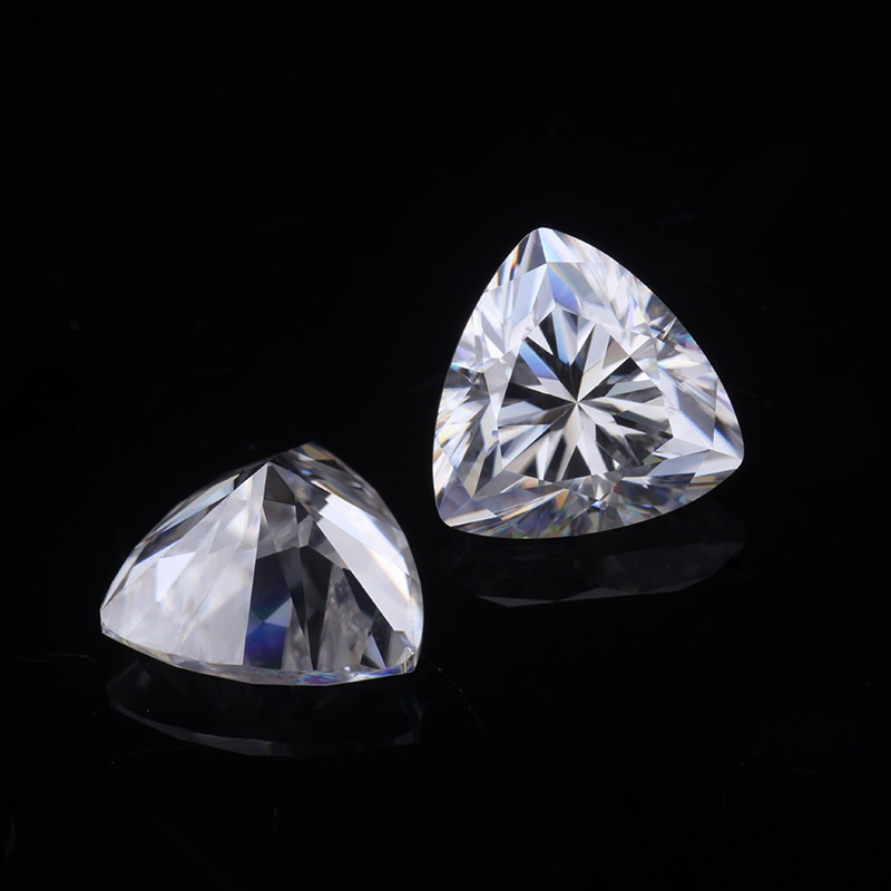 أحجار كريمة مفكوكة تريليون قطع 9x9 مللي متر 3.0 قيراط EF اللون VVS الوضوح الاصطناعية مويسانيتي الماس