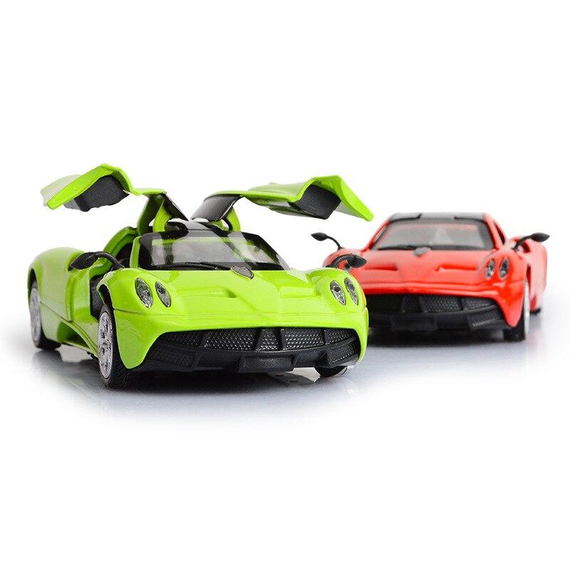 Simulación de modelo de coche Pagani en miniatura con juguete electrónico extraíble con luces de simulación y modelo de música, juguetes de coche para niños
