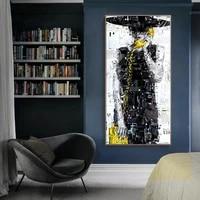 Affiches et imprimes de toile dart mural  peinture sur toile moderne abstraite  Portrait de fille a la mode  images pour decoration de maison  sans cadre