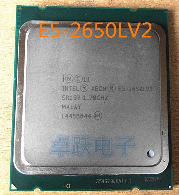 Intel Xeon E5-2650LV2 CPU SR19Y 1,70 GHz 10-25 M LGA2011 E5 2650LV2 E5 2650L V2 procesador