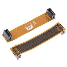 Conector flexível da placa de vídeo do cabo da ponte pci-e de sli de 8cm 80mm para asus