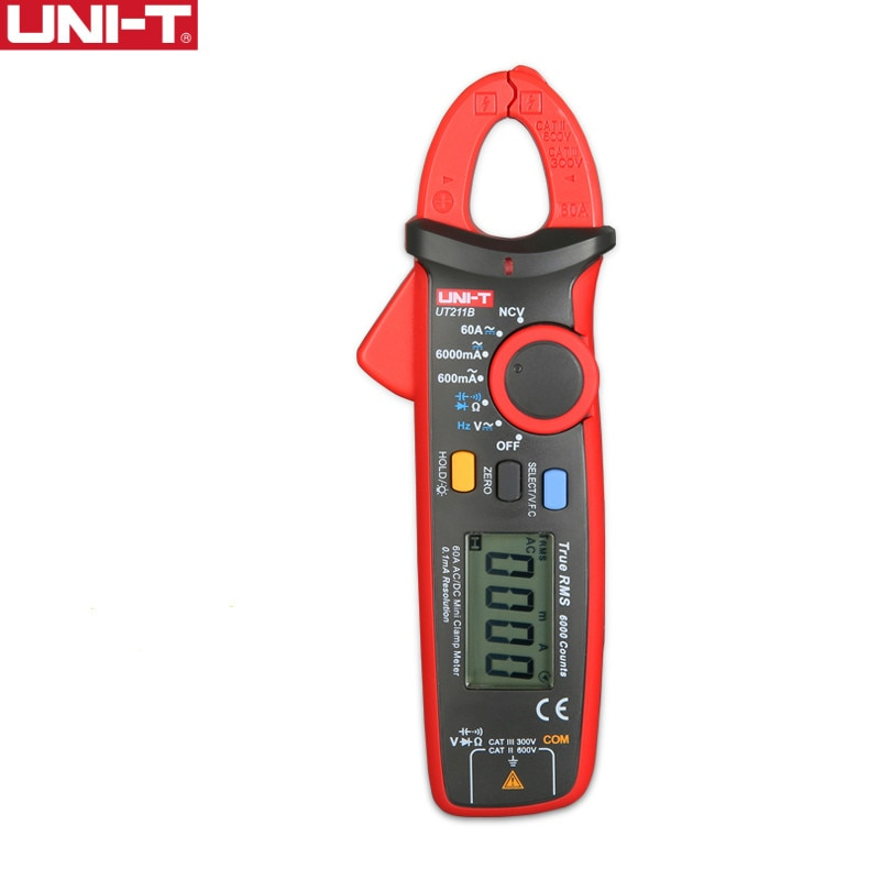 UNI-T UT211B-مشبك رقمي متعدد ، تيار متردد ، تيار مستمر ، 60 أمبير ، اختبار NCV ، أفضل دقة ، 20 مللي أمبير ، بدون غطاء ، ديود أوم