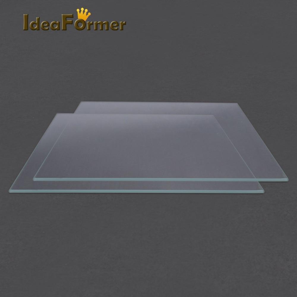 3D Printer Accessories Reprap MK2 Heated Bed Borosilicate Glass Plate tempered 1 pcs 3D Printer parts glass in good quality
