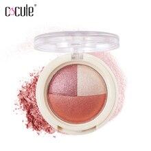 Paleta de maquillaje cosmético de 3 colores para hornear, paleta de maquillaje con resplandor desnudo encantador a prueba de agua