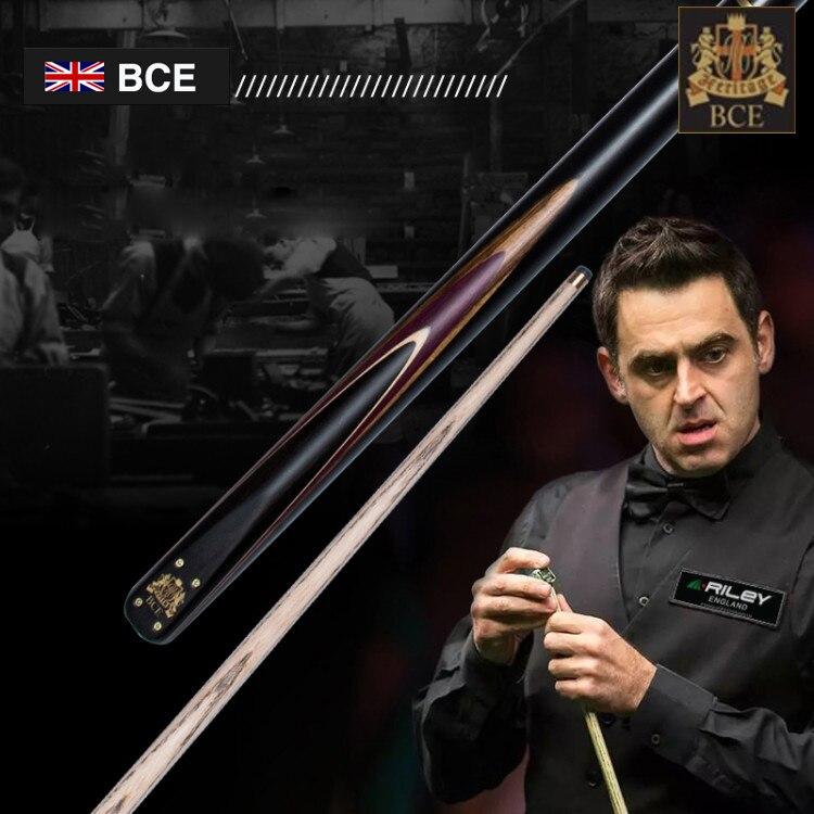 RILEY BHC Series Snooker Billiard Cue 9.5-10mm Deer Tip Brass Ferrule RILEY Joint with Extension 3/4 Split Ash Wood Snooker