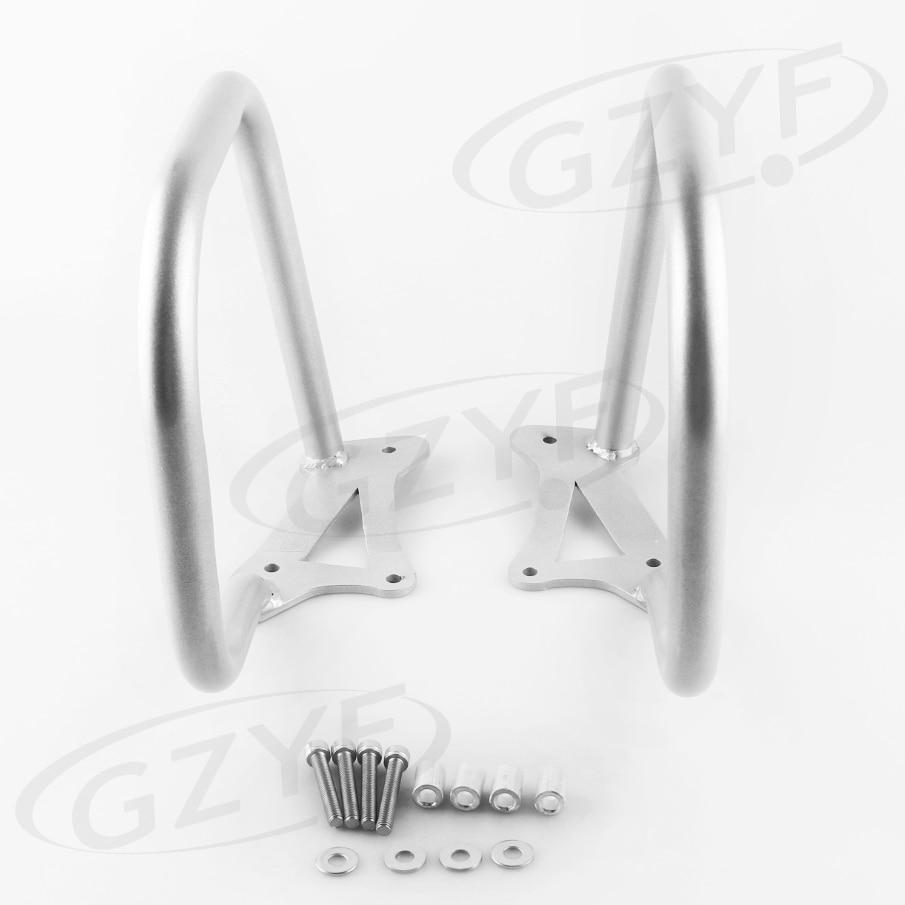 Trasero de la motocicleta Barra de choque de protección para motor Protector Kit de reemplazo para BMW K1600GTL 2011, 2012, 2013, 2014 de acero de plata