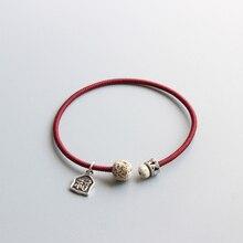 2019 New Design Tibetan Buddhist Handmade Copper Braid Rope Bracelet Simple Thin Amulet Bangle Lucky Sign Charm Antique Jewelry