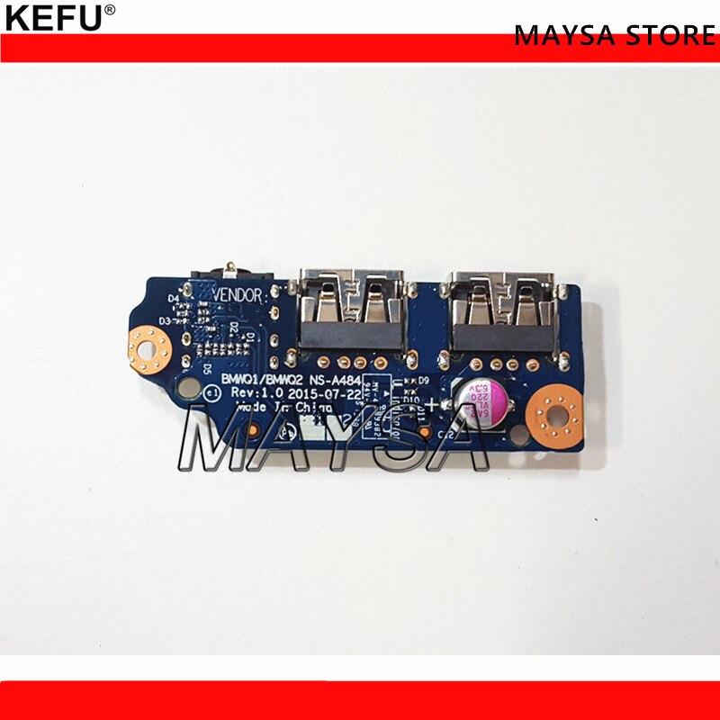 Original para LENOVO 300-15IBR 300-14 300 tarjeta de AUDIO USB BMWQ1 BMWQ2 NS-A484 funciona