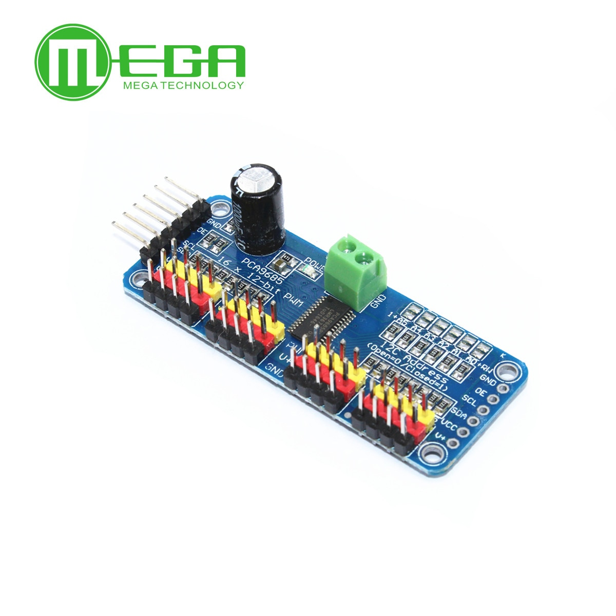 16-канальный 12-битный модуль PWM/Servo Driver-I2