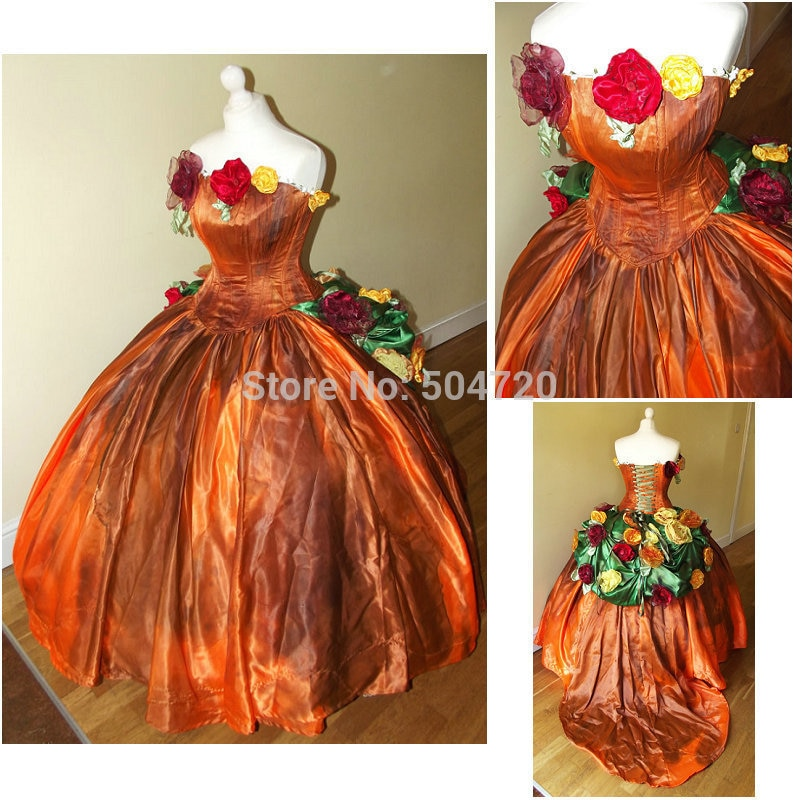 Freeshipping!R-821 trajes vintage 1860s guerra civil bola vestido/gothic lolita vestido renascentista todo o tamanho