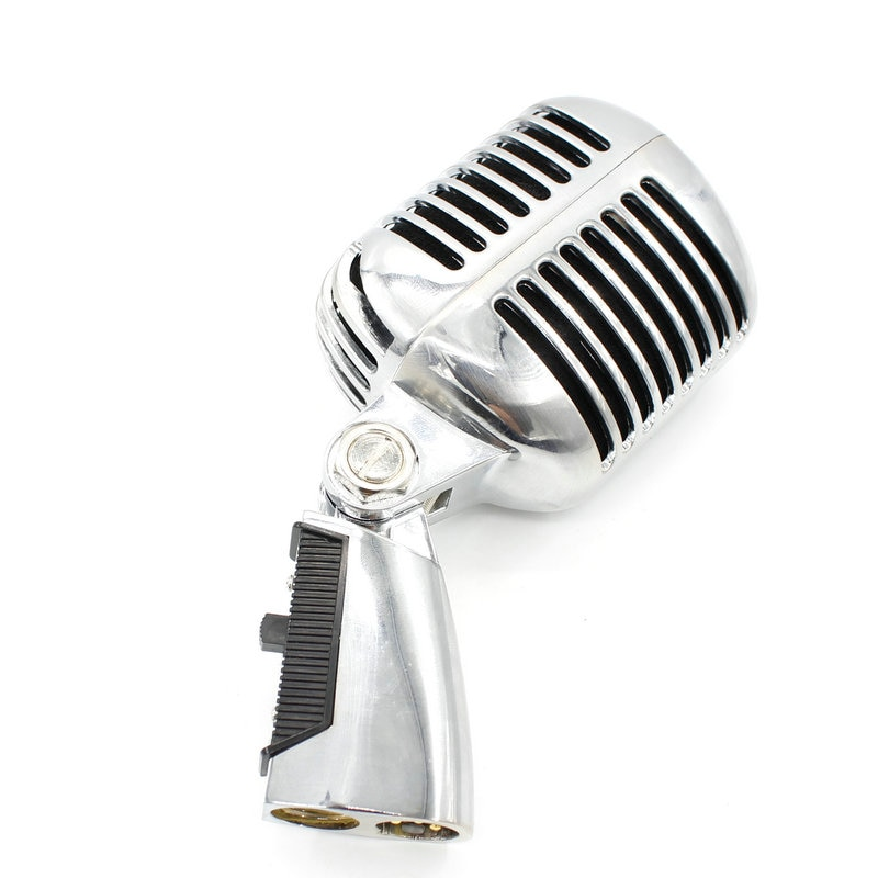Professional Wired Vintage Classic Microphone Top Quality Dynamic Moving Coil Mike Deluxe Metal Vocal Old Style Ktv Mic enlarge