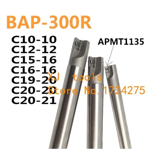 1 Uds BAP300R C10-10 C12-12 C12-13 C14-14 C16-16 C20-20 C20-21-1T/2 T ángulo 90 fresa de grado arbor para APMT1135 insertos