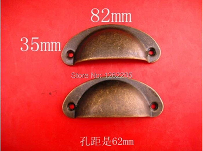 82*35 mm medicine cabinet drawer handle, small seashells metal shake handshandle, restore ancient ways round handle