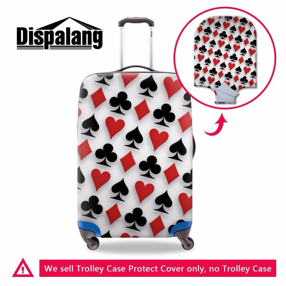 Dispalang único patrón de póker grueso elástico cubierta protectora de equipaje con cremallera cubierta impermeable aplicable a 18-30 pulgadas maleta
