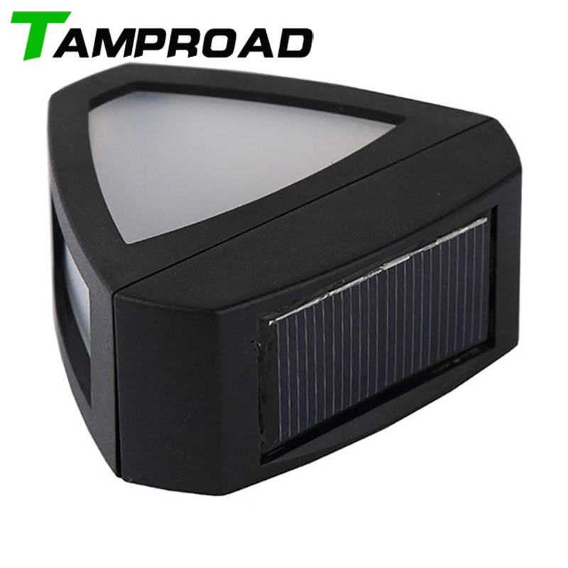 TAMPROAD, lámpara Solar Retro montada en la pared, seguridad inalámbrica, 2 LEDs, luces, canalón, valla, pasillo, acera, calle, casa, techo, Luz