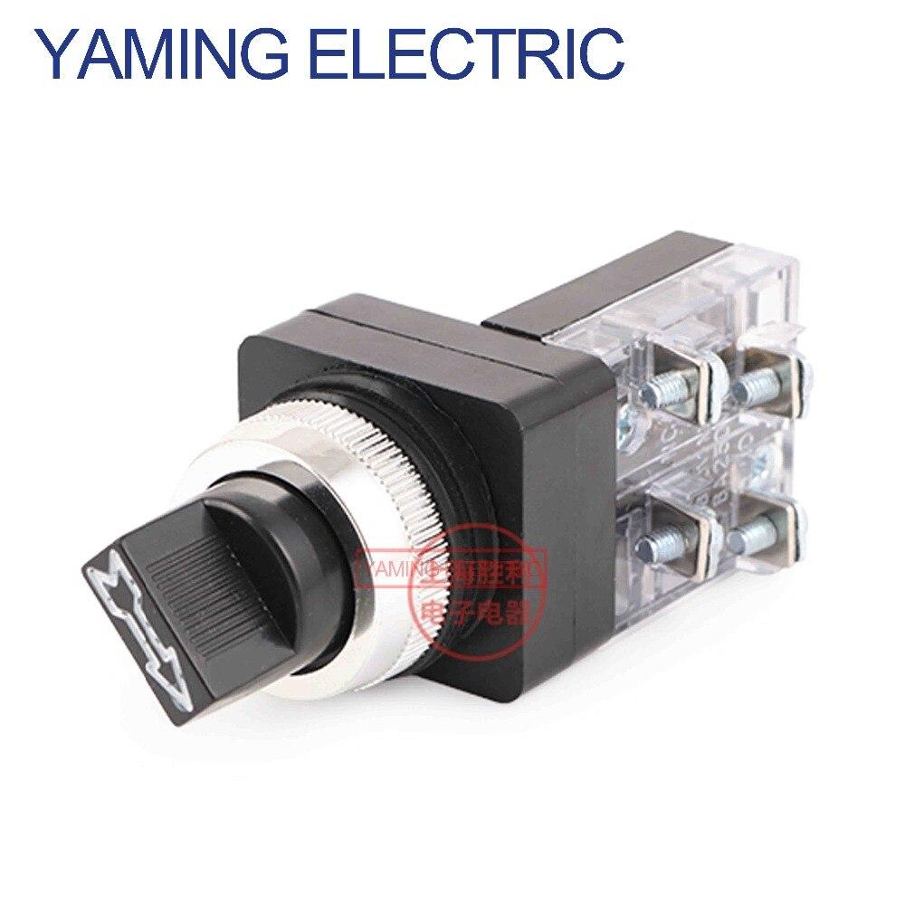 P155 250 V 6A Elektrische drehschalter knopf 30mm 25mm 2 position/3 position Schlüsselwahlschalter 1NO TSS-25 TSS-30