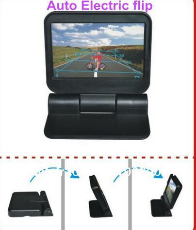 Automobiles Parking Assistance 5 HD car monitor Automatical open /close motorized 800*480 2CH video car Parking sensor system