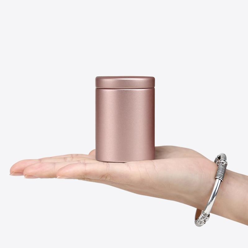 300 por paquete 47*65mm latas de estaño de oro de alta calidad recipiente de té vacío Verde Negro rojo blanco contenedores de almacenamiento de té personalizados