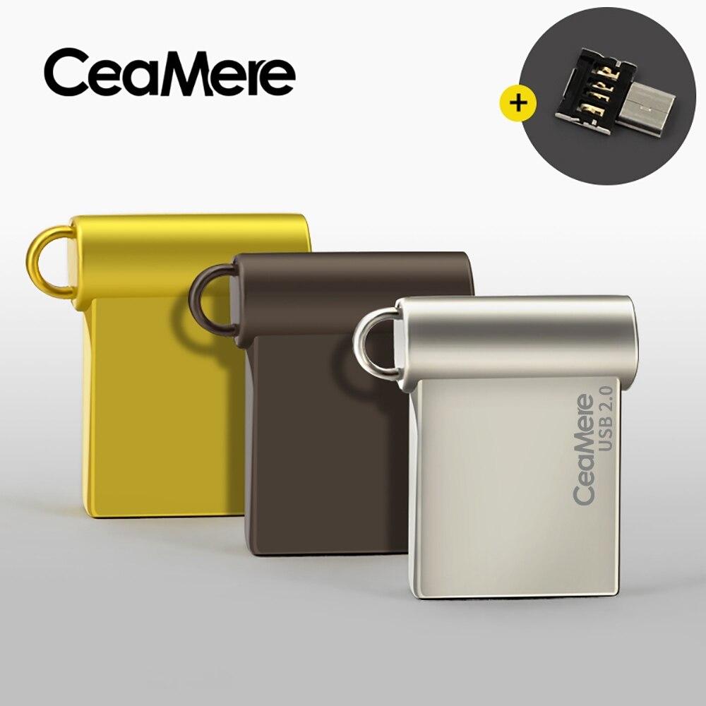 Ceamere CD06 USB Flash Drive 4 GB/8 GB/16 GB/32 GB/64 GB Pen Drive USB 2,0 Pendrive memoria USB disco USB de 1GB 2GB