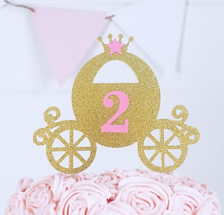 Carro de princesa acrílico, Age personalizado, cumpleaños, Cenicienta, Topper, herramientas, decoraciones de fiesta de boda