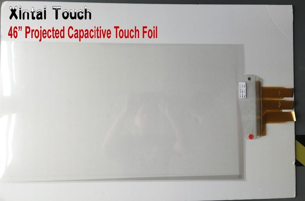 """Frete Grátis! 46 """"10 pontos de toque interativo folha Film através do vidro, Flexível"""