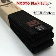 MOOTO hoge kwaliteit Taekwondo zwarte riem WTF ITF 3 m riem borduren naam karate Judo Uniform hoge niveau Pure katoen doos pakket