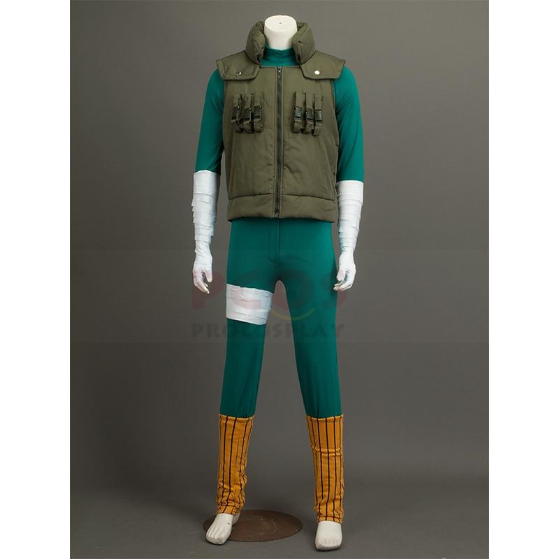 Naruto rock lee/cara pode cosplay traje halloween ninjia mp000447