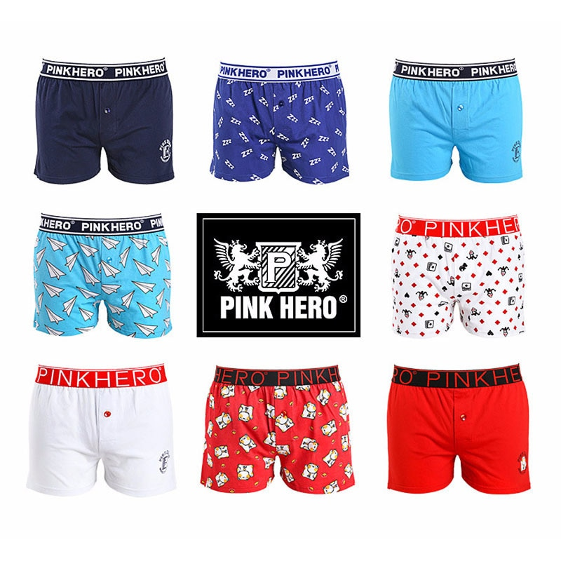 Pinkhero cueca dos homens boxers respirável calcinha masculina confortável algodão homem calças de seta boxershorts boxer shorts