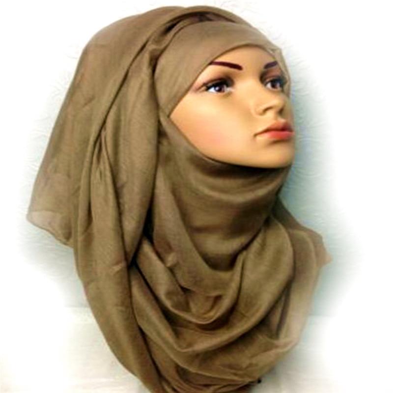 Mulheres hijabs básico simples cachecol sólido viscose algodão hijab moda leve-peso envoltórios foulard xales macio muçulmano 20 pçs/lote