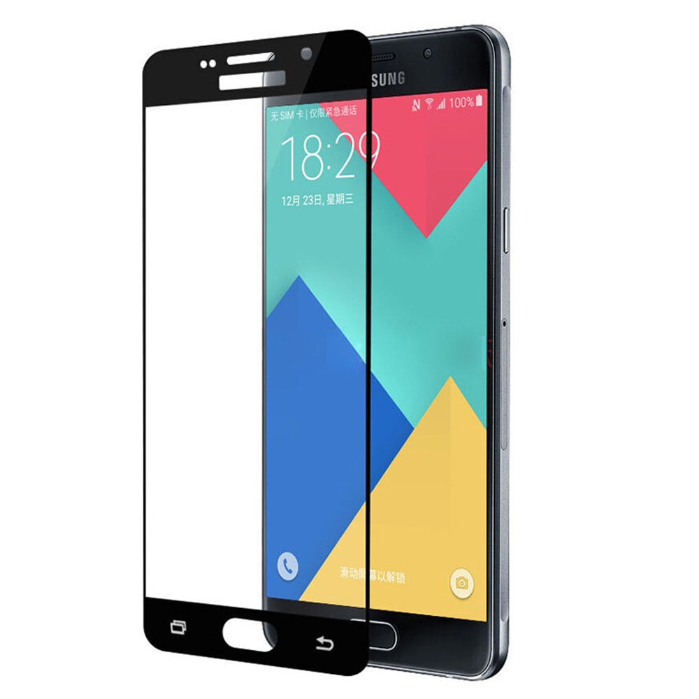 9H 2.5D funda completa templada de cristal para Samsung Galaxy A3 A5 A7 J3 J5 J7 2016 2017 J330 J530 J730 Protector de pantalla película protectora