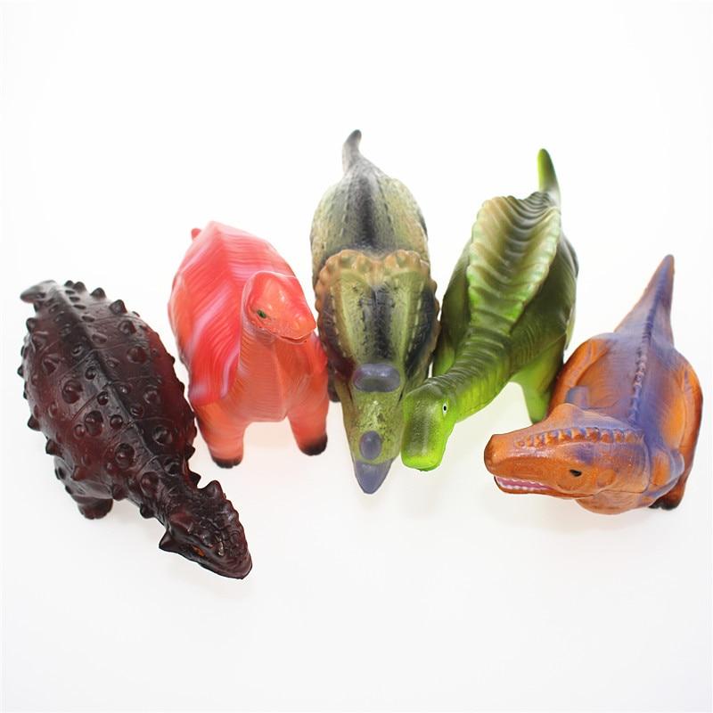 New Jurassic Park Dinosaur Squishy Tyrannosaurus Rex slow rebound Squeeze toy Simulation PU Dinosaur Model enlarge