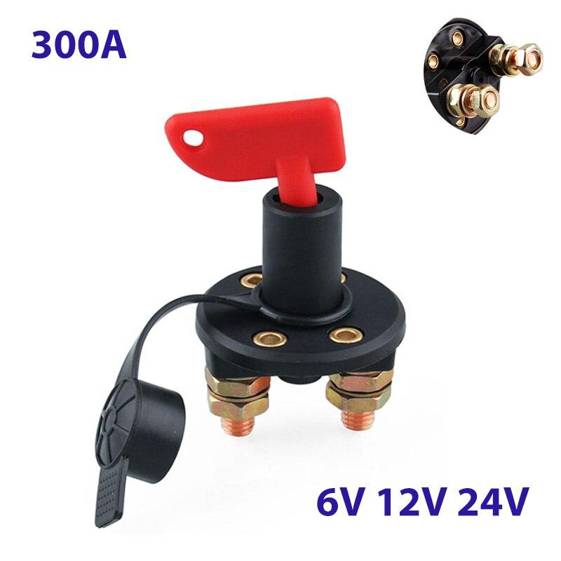 300A 6 в 12 В 24 в Мото автомобильный выключатель питания Выключатель главный выключатель 2 Винтовые клеммы выключатель изолированный поворотный переключатель ключ